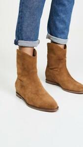 $375 - Vince Sinclair Cuoio Suede Cowboy Boots Size 7.5