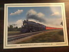"Milwaukee (Road) 4-8-4 Northern 261 Art by Bruce Friesch 8.5""x 6"" Train Engine"