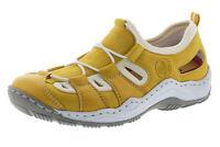 Rieker Sandalen Trekking Slipper Outdoor Schuhe gelb 36 - 43 L0561-68 Neu8