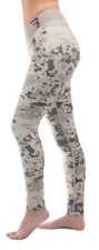 Camo Yoga Workout Tights Pants Large (L)  Brown Beige