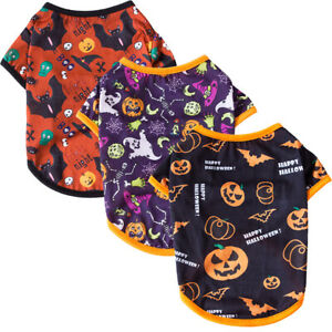Halloween Pet Clothes T-shirt Small Dog Cat Puppy Vest Chihuahua Party Costume