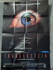 FRANKENSTEIN UNBOUND (VIDEO DEALER FULL-SIZE 38 X 26 POSTER!, 1990) RAUL JULIA