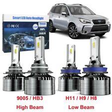 H11 Low Beam 9005 High Beam LED Combo Headlight Bulb For Subaru Forester 09 - 18