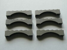 Lego 6 arches gris foncees 4707 6091 4726 4479   / 6 old dark gray arch