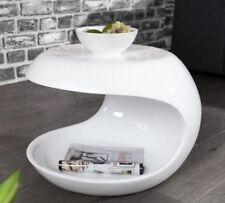 Beistelltisch Couchtisch weiss hochglanz Glasfaser TORSION  Retro Design Tisch