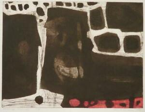 JOHN BRUNSDON (1933-2014) early ABSTRACT PENCIL SIGNED LIMITED EDITION etching