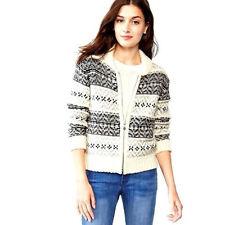 NWT! Gap Womens Fair Isle Sweater Zip Jacket Size XS