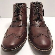 Cole Haan Liam Chukka Wing Tip Mens Size 13M  Brown Leather Ankle Boots C11053