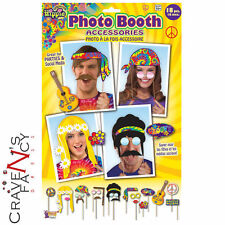 Hippie Hippy Photo Booth Prop Kit Groovy Party Photos Facebook Fancy Dress New