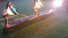 Lichtleiste 3x20W bunt für Partykeller oder Wohnung, neu unbenutzt goldfarben