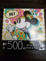 """Disney - Minnie Mouse -  500 Piece Jigsaw Puzzle - 11""""x 14"""" New"""