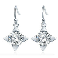 1 Pair Women Lady Elegant Crystal Rhinestone Ear Stud Earrings Fashion