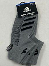 Adidas Mens Low Cut  Superlite Climacool Socks Shoe Size 6-12 Gray 3 Pair