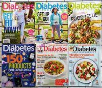 Lot of 6 issues Diabetes Forecast, Self Management Magazine 2016-18