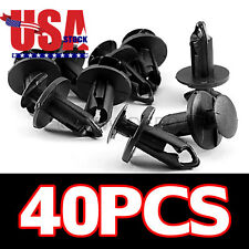 US 40Pcs Black Nylon Fender Clips 8mm for Honda Foreman/Kawasaki KFX700/450 ND