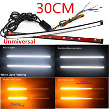 30CM Pair Switchback Flowing Car DRL LED Knight Rider Light Strip Tube 2in1
