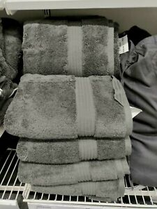 IKEA BREDASUND DELUXE THICK BATH TOWELS asst'd size DRK GRAY HOTEL QUALITY FREES