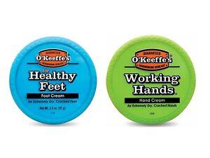 O'Keeffe's Jar Twin Pack - 1 x 96 g Working Hands & 1 x 91g Healthy Feet