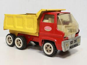 Vtg 1960s Red/Yellow TONKA Hydraulic Hauling Dump Toy Truck Vintage #13240 -250