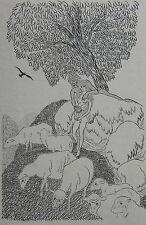 DULAC JEAN Les amours pastorales de Daphnis et Chloe, cuivre de Dulac, plaquette