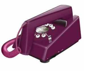 Geemarc Trimline Retro Style 2 Piece Corded Telephone - Purple