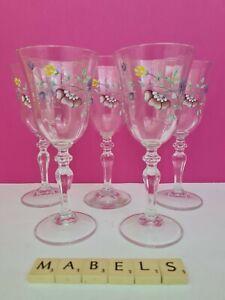 JOHNSON BROTHERS ~SUMMER CHINTZ~ small white wine glasses x 5