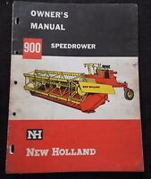 GENUINE 1961 1962 NEW HOLLAND 900 SPEEDROWER WINDROWER OPERATORS MANUAL GOOD
