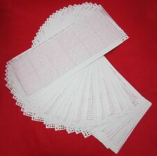 NEU 30 Lochkarten blanco 24` Rapport - SilverReed Empisal Strickmaschinen cards
