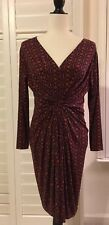 *NWOT*LEOTA Original Dress,Handmade In New York, L/S, Pleated, Ruched,S