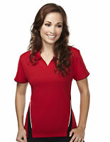 Tri-Mountain Women's New Moisture Wicking Polyester Short Sleeve Golf Shirt. 232