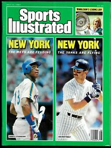 1987 Sports Illustrated   DARRYL STRAWBERRY Mets  & DON MATTINGLY Yankees  NL