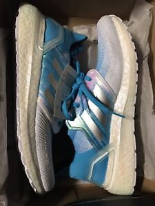 Adidas Ultra boost 20 Men's size 8.5 White Cyan Blue $180 Sold Out