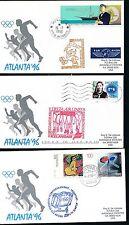 90098) 3 Olympiade SF nach Atlanta 1996 ab Monaco, Island + BRD