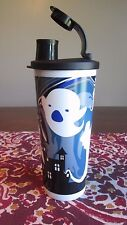 Tupperware NEW  Halloween Ghosts  Haunted House Black 16 oz 470 ML  TUMBLER