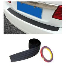 Rear Guard Bumper Protector Trim Cover Sill Trunk Scuff Plate Rubber & Sticker
