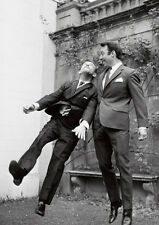 Jimmy Greaves and Norman Wisdom BW POSTER