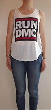 RUN DMC T SHIRT Vest Tank Top T-Shirt TOP Ladies Women Girls New Hip Hop Group
