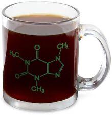 2 CAFFEINE MOLECULE COFFEE GLASS MUG SET CHEMISTRY SCIENCE TEACHER STUDENT GIFT