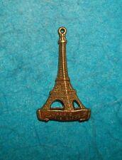 Pendant Eiffel Tower Charm Bronze Paris Charm France French Charm Travel Love