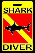 Safety Yellow Shark Diver SCUBA Diving Luggage/Gear Bag Tag - New
