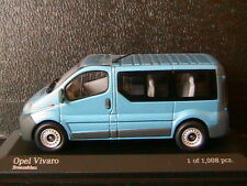 OPEL VIVARO BREAK VITRE 2001 BREEZE BLUE MINICHAMPS 430040511 1/43 BREEZEBLAU
