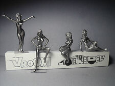 4  FIGURINES 1/43  SET  321  LES  NUDISTES  VROOM  UNPAINTED  NUDE  GIRLS