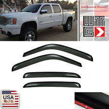 Window Deflector Visor Shade Guard For 07-13 Chevy Silverado GMC Sierra Crew Cab