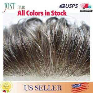 Mens Hair Replacement Ultra Thin Skin Toupee All Colors Hairpieces PU System Wig