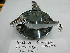 One Roadster Chrome Knockoff MC 1000-R Center Cap R3 Bomb Lowrider Old School