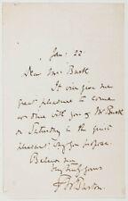 Frederick W. Burton - Autograph Letter Signed 01/22