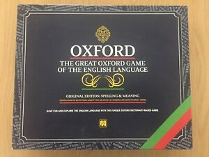 Oxford The Great Oxford Game Of The English Language Board Game Complete VGC