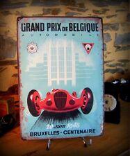 plaque métal déco reproduction ancienne affiche grand prix auto de belgique