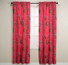 "Realtree Camo Curtain Panels, Pink Camo, 2 Panels 40""x84"" Each - NEW"