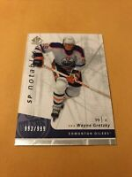 Wayne Gretzky 06-07 SP Authentic Notables Card Edmonton Oilers 993/999